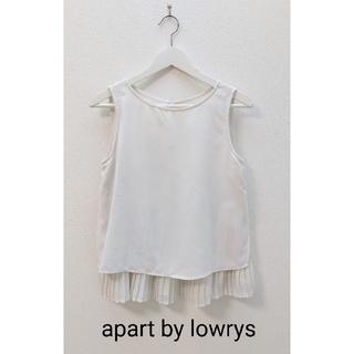 アパートバイローリーズ(apart by lowrys)のapart by lowrys  白  ノースリーブ  トップス(カットソー(半袖/袖なし))
