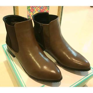 アシナガオジサン(あしながおじさん)の新品 未使用 ショートブーツあしながおじさん 23.5 24 ブラウン(ブーツ)