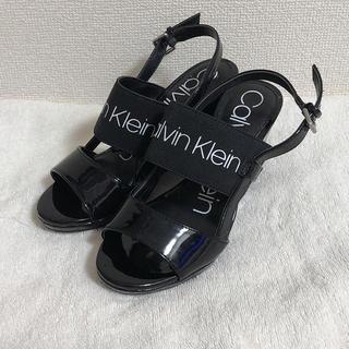 カルバンクライン(Calvin Klein)の新品カルバンクライン 22.5cm ウエッジソールサンダル(サンダル)