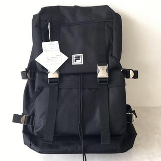 フィラ(FILA)のFILA フラップバックパック ブラック(バッグパック/リュック)