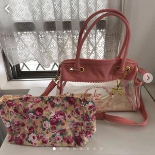リズリサ(LIZ LISA)のリズリサ スケルトン バッグ ピンク 花柄 チャーム付き♪(ショルダーバッグ)