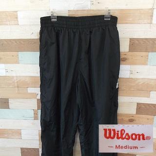 ウィルソン(wilson)の【Wilson】 美品 ウィルソン ブラックジャージボトムス サイズM(ジャージ)