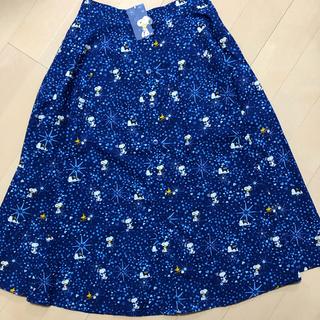 キャスキッドソン(Cath Kidston)の新品 スヌーピー キャスキッドソン コラボ ロングスカート L  PEANUTS(ロングスカート)