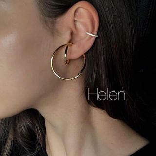 HYKE - gold  loop ear cuff