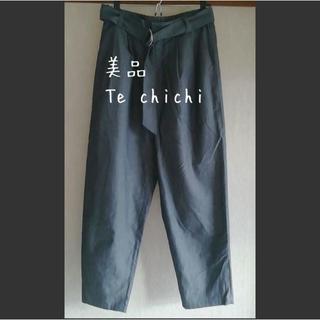 テチチ(Techichi)の美品 Te chichi(テチチ) テイパードパンツ シャンブレー(クロップドパンツ)