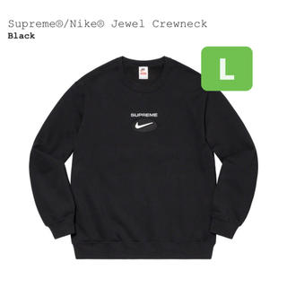 シュプリーム(Supreme)のSupreme Nike Jewel Crewneck ブラック Lサイズ(スウェット)