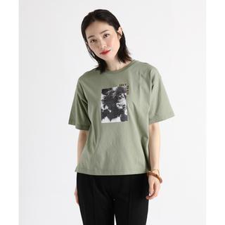 スコットクラブ(SCOT CLUB)のスコットクラブサイドスリット転写フォトプリントTシャツ【新品】(Tシャツ(半袖/袖なし))
