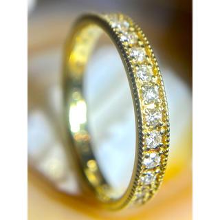 K18YG ミルグレイン フルエタニティ-ダイヤモンドリング(リング(指輪))