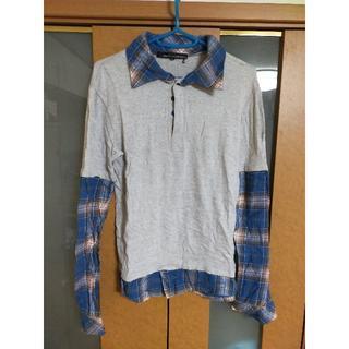 イエロールビー(YELLOW RUBY)の【売り尽くし】イエロールビー レイヤード風ロンT ポロシャツ グレー 希少(ポロシャツ)