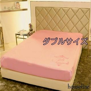 Rady - 【クリーニング済み】Rady ボックスシーツ ダブル ピンク サテン