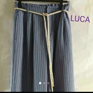 ルカ(LUCA)のLUCA★ストライプワイドパンツ(カジュアルパンツ)