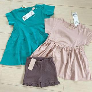 プティマイン(petit main)のプティマイン 120 トップス2枚、ショートパンツ(Tシャツ/カットソー)