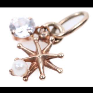ノジェス(NOJESS)のノジェス 雪の結晶 K10YG ネックレスチャーム USED美品(ネックレス)