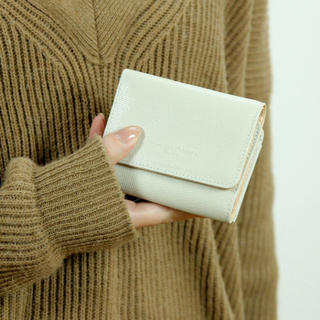 ツモリチサト(TSUMORI CHISATO)のツモリチサト 3つ折り財布 ベージュ(財布)