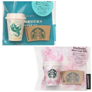 スターバックスコーヒー(Starbucks Coffee)の新品 スターバックス ミニカップギフト  アニバーサリー さくら スタバ 2個(フード/ドリンク券)