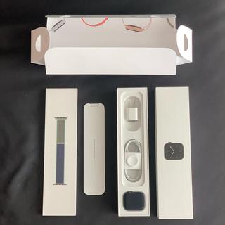 アップルウォッチ(Apple Watch)の超美品 Apple Watch series5 スペースグレイ 44mm アルミ(スマートフォン本体)