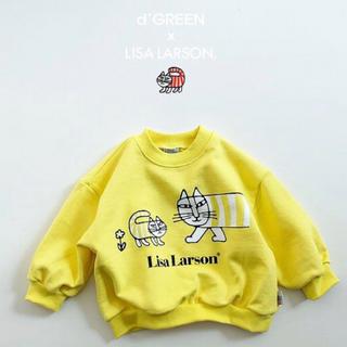 リサラーソン(Lisa Larson)のdigreen リサラーソン 韓国 子供服 スウェット キッズ ユニセックス(Tシャツ/カットソー)