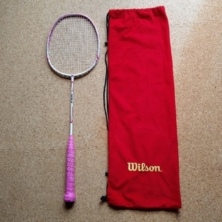 ウィルソン(wilson)の【専用になります】バドミントンラケット ウィルソン フィアースパワースキン(バドミントン)