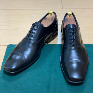 サントーニ(Santoni)のイタリア製 carlos ビジネスシューズ 黒 42(ドレス/ビジネス)