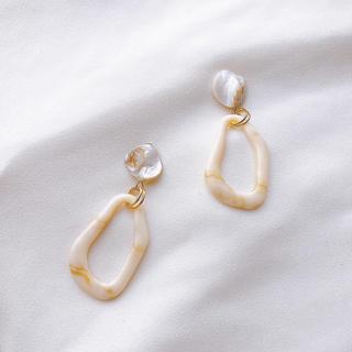 ケービーエフ(KBF)のほうじ茶ラテ(milk①)pierce/earring(イヤリング)