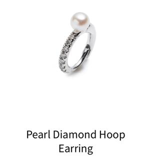 エストネーション(ESTNATION)のmacaronさん専用 Diamond Hoop Earring 美品(ピアス)