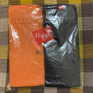 アダムエロぺ(Adam et Rope')の未使用《ADAM ET ROPE'》Tシャツ(2枚パック) オレンジ&ネイビー(Tシャツ(半袖/袖なし))