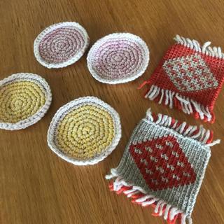 コースター 毛糸(キッチン小物)