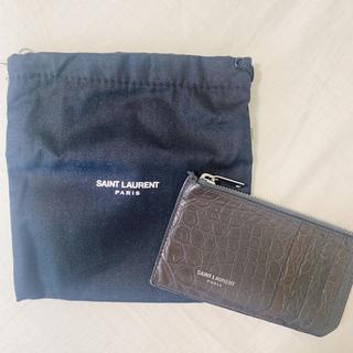 サンローラン(Saint Laurent)のSaint Laurent サンローラン カードケース クロコダイル(名刺入れ/定期入れ)
