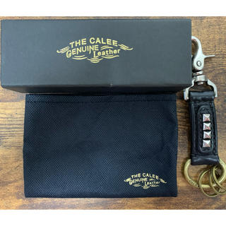 キャリー(CALEE)のcalee キーリング レザー キーチェーン 箱付き(キーホルダー)