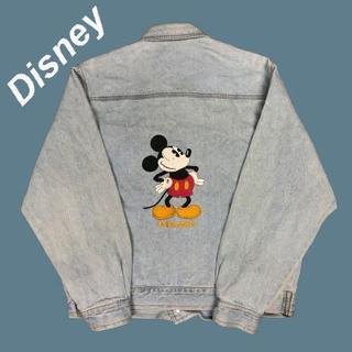 ディズニー(Disney)の【刺繍】ディズニーDisney☆ミッキーデニムジャケットM1323(Gジャン/デニムジャケット)