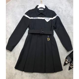ディオール(Dior)のDIOR ワンピース 黒 S(ミニワンピース)