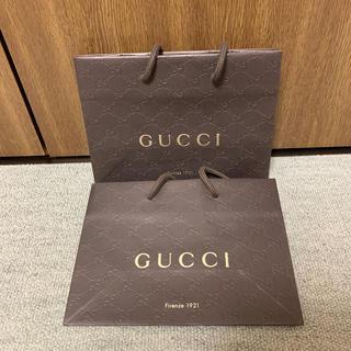 グッチ(Gucci)のGUCCI ショプバッグ2枚セット(ショップ袋)