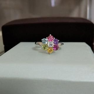 ☆天然石☆フラワーデザイン アミュレット ピンキーリング(リング(指輪))