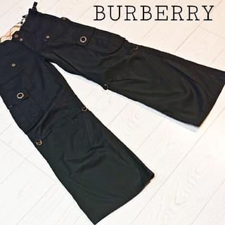 バーバリー(BURBERRY)のBURBERRY バーバリーブルーレーベル レディース ワイドカーゴパンツ 36(ワークパンツ/カーゴパンツ)