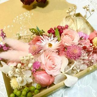 プリンセスピンクローズ*ハーバリウム花材ドライフラワー 花材セット(ドライフラワー)