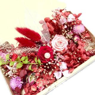 レッドとピンクローズ*ハーバリウム花材ドライフラワー 花材詰め合わせセット(ドライフラワー)