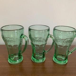 コカ・コーラ - コカコーラ ガラス製 コップ ①