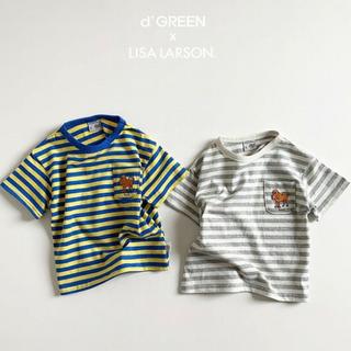 リサラーソン(Lisa Larson)のdigreen リサラーソン 韓国 子供服 Tシャツ 2色 キッズ ユニセックス(Tシャツ/カットソー)