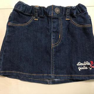 ダブルビー(DOUBLE.B)のミキハウス デニムスカート 90(スカート)