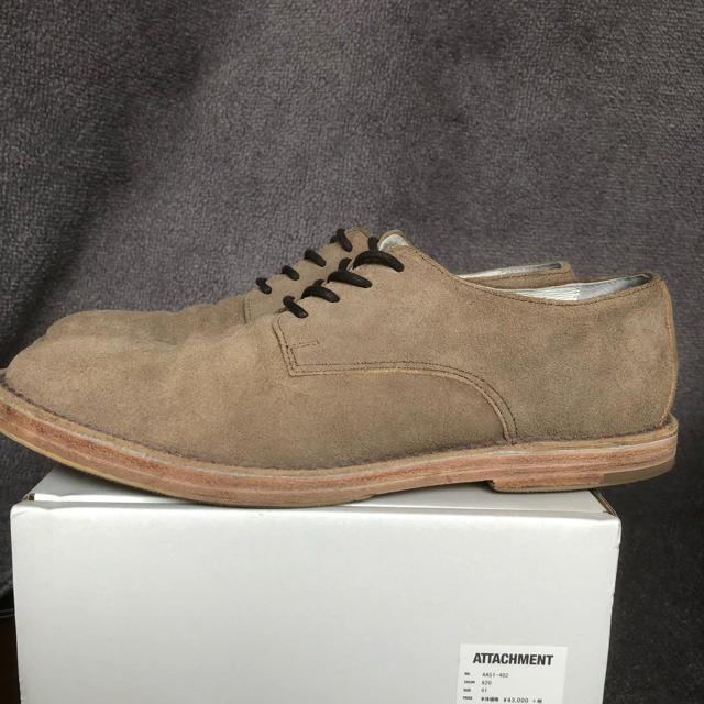 ATTACHIMENT(アタッチメント)のATTACHMENT アタッチメントベロアステッチダウンシューズ メンズの靴/シューズ(ドレス/ビジネス)の商品写真