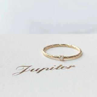 ジュピターゴールドレーベル(jupiter GOLD LABEL)の美品 JUPITER ジュピター K18 ダイヤモンド ピンキーリング(リング(指輪))