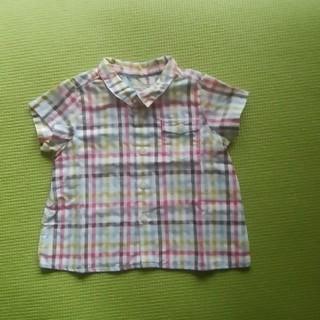 ボンポワン(Bonpoint)のボンポワン♡6m半袖シャツ麻混(シャツ/カットソー)