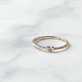 ジュピターゴールドレーベル(jupiter GOLD LABEL)の美品 JUPITER ジュピター K10 ハート ダイヤモンドピンキーリング(リング(指輪))