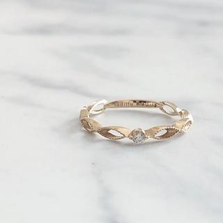 ジュピターゴールドレーベル(jupiter GOLD LABEL)の美品 JUPITER laditte ジュピター K10 ダイヤモンドリング(リング(指輪))