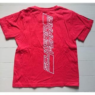 フェラーリ(Ferrari)のフェラーリ◆Tシャツ 赤 3/4Y(110)◆美品(Tシャツ/カットソー)