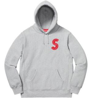 シュプリーム(Supreme)のシュプリーム Sロゴ パーカー グレー Mサイズ 新品未試着の未使用品 完売品(パーカー)