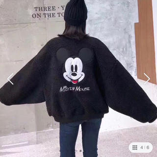 ディズニー(Disney)の《ディズニー》ミッキー ボアブルゾン ブラック M(ブルゾン)