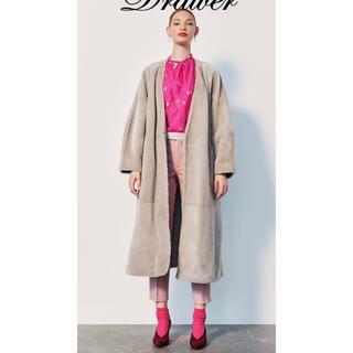 ドゥロワー(Drawer)のDrawerドゥロワー2019AWLook Book掲載/ピンクテーパードパンツ(クロップドパンツ)