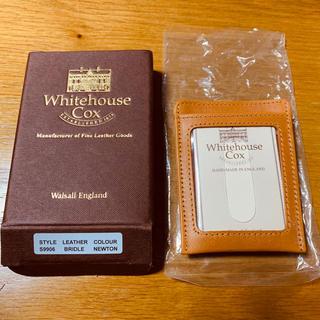 ホワイトハウスコックス(WHITEHOUSE COX)の【値下げ】パスケース付マネークリップ ホワイトハウスコックス 未使用品(名刺入れ/定期入れ)