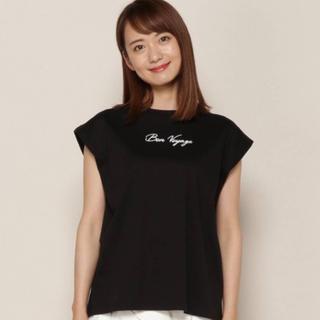 アンドクチュール(And Couture)のアンドクチュール 刺繍 ロゴTシャツ(カットソー(半袖/袖なし))